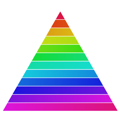 Financial Goals Depicted as a Colorful Pyramid